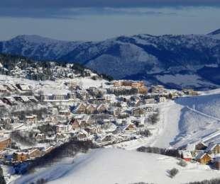 Skiing around San Michele Mondovi